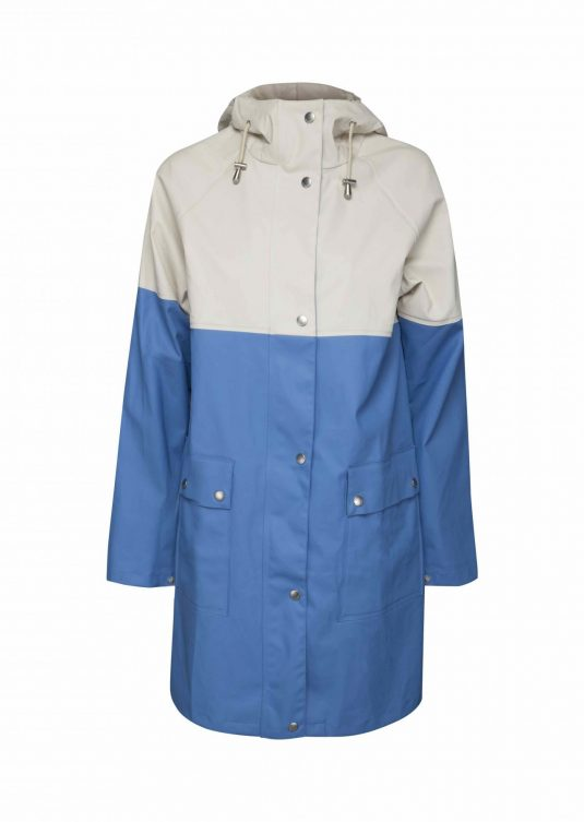Ilse Jacobsen True Rain Raincoat – White / Blue