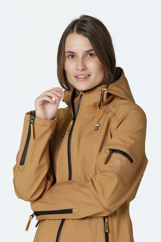 Ilse Jacobsen Rain07 softshell raincoat waterproof breathable cashew brown