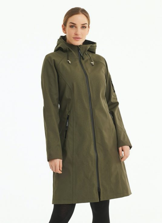 Ilse Jacobsen Rain37L soft shell raincoat army green