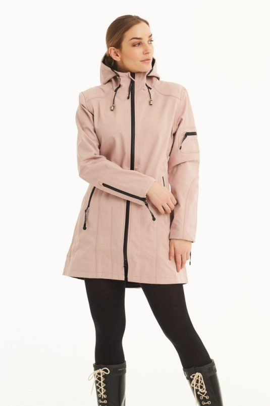 Ilse Jacobsen Rain07 Soft Shell Raincoat Adobe Rose 1