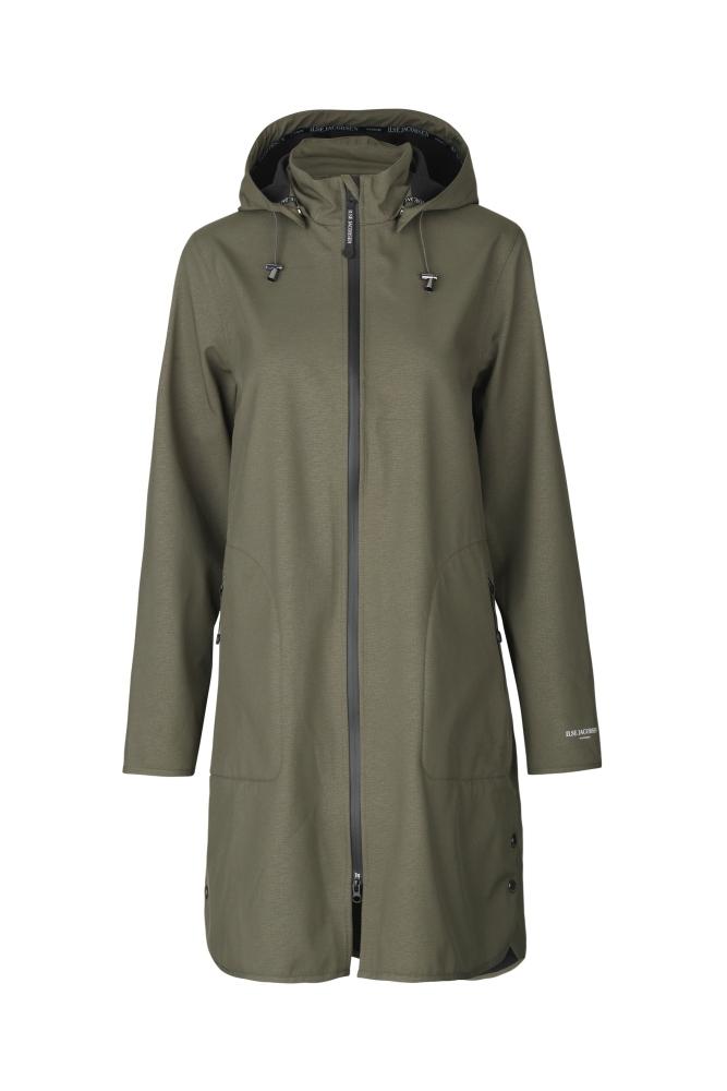 Ilse Jacobsen RAIN37L Long Softshell Raincoat Dark Indigo