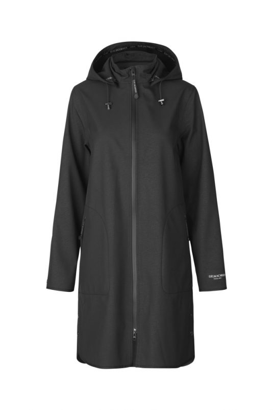 Ilse Jacobsen Rain128 Soft Shell Raincoat Black 1