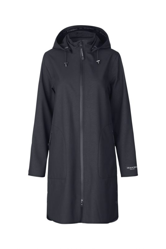 Ilse Jacobsen Rain128 Soft Shell Raincoat Dark Indigo 1