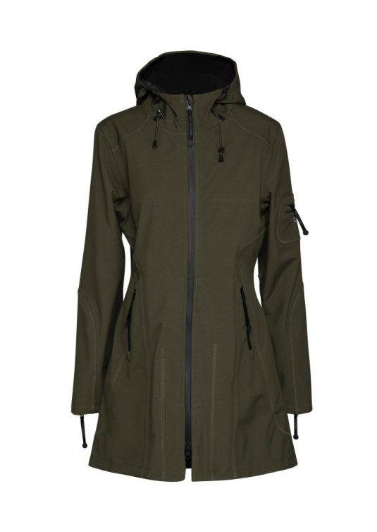 Ilse Jacobsen Soft Shell Raincoat (Style Rain07) - Black