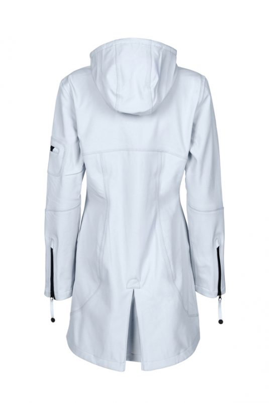 Ilse Jacobsen Rain07 Soft Shell Raincoat White Blue