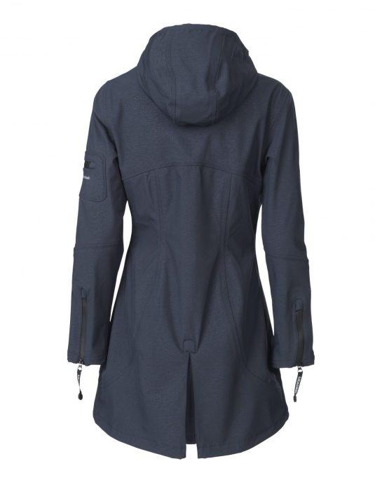 Ilse Jacobsen Soft Shell Raincoat (Style Rain07) - Indigo