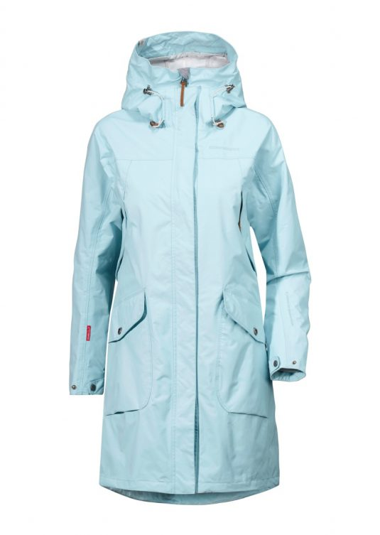 Didriksons Thelma Women's Raincoat - Navy Blue or Clear Blue