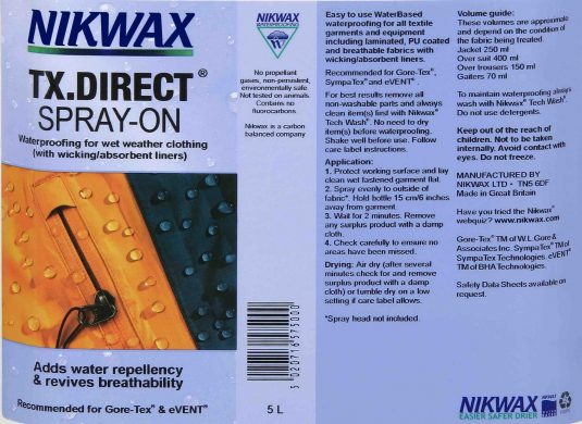 Nikwax TX Direct Spray On - 300ml