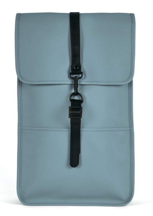 Rains Backpack - Pacific Blue, Smoke Grey, Rust Orange