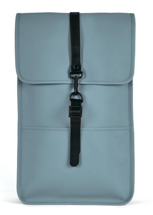 Rains Backpack - Pacific Blue, Smoke Grey, Rust Orange