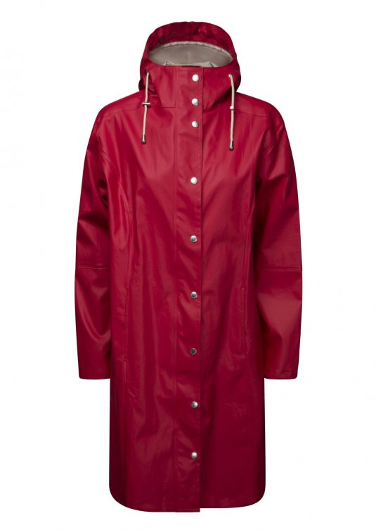 Ilse Jacobsen True Rain Raincoat (Long) - Deep Red