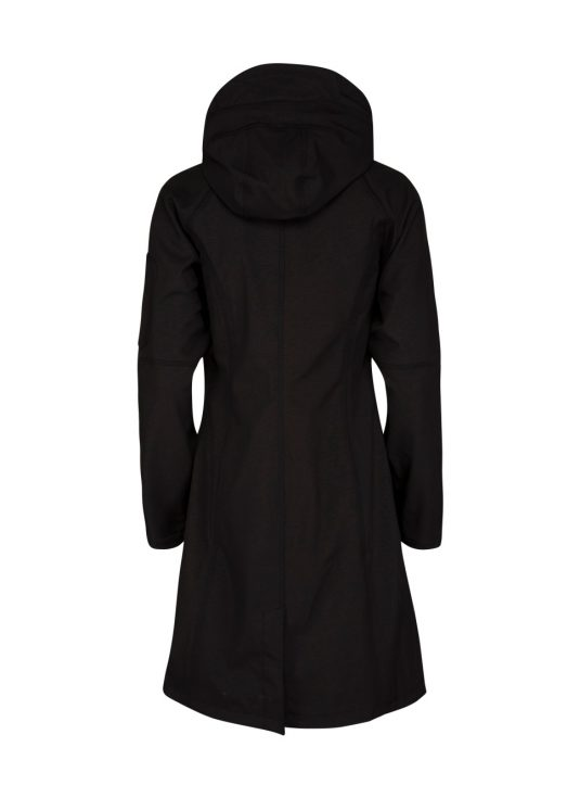 Ilse Jacobsen Long Soft Shell Raincoat - Black, Indigo