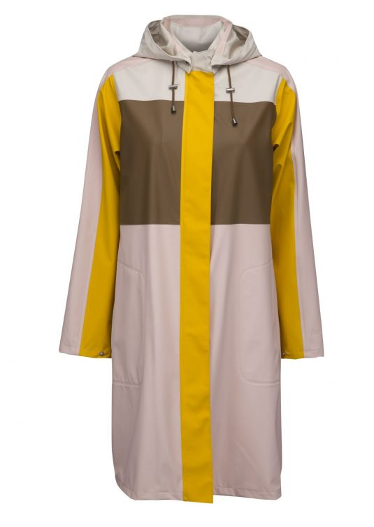 Ilse Jacobsen Light True Rain Raincoat - Peach/Yellow, Army Green/Pale Blue