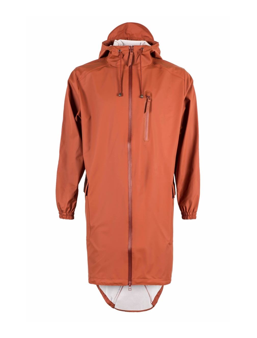 Rains Unisex Parka - Rust Orange