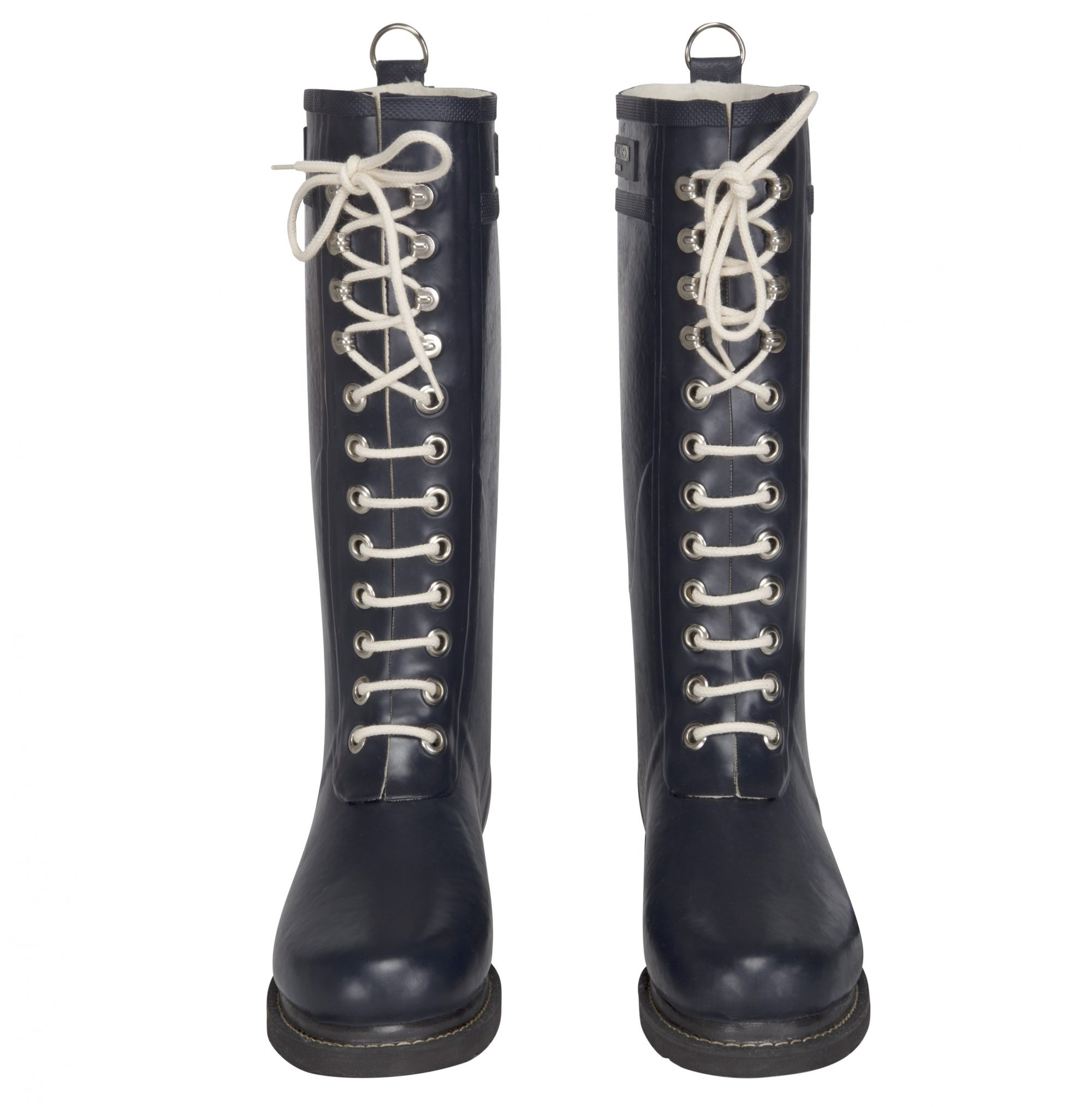 Ilse Jacobsen Tall Laced Rubberboot - Dark Indigo