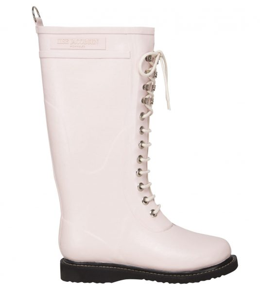 Ilse Jacobsen Tall Laced Rubberboot - Peach Whip