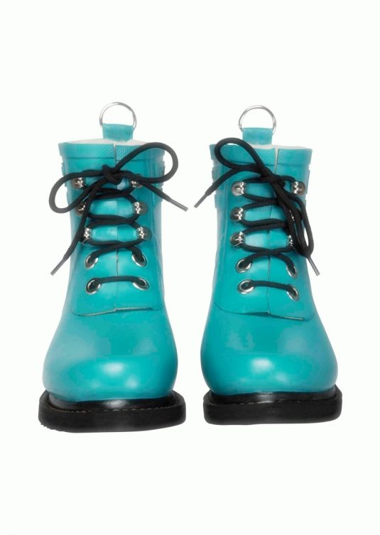 Ilse Jacobsen Short Laced Rubberboot - Pacific Blue