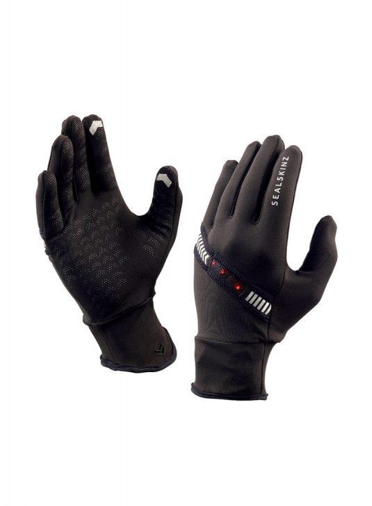 Sealskinz Halo Running Gloves - Black / LED