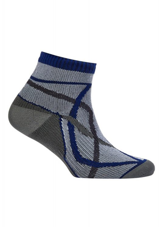 Sealskinz Thin Socklet - Grey/Blue
