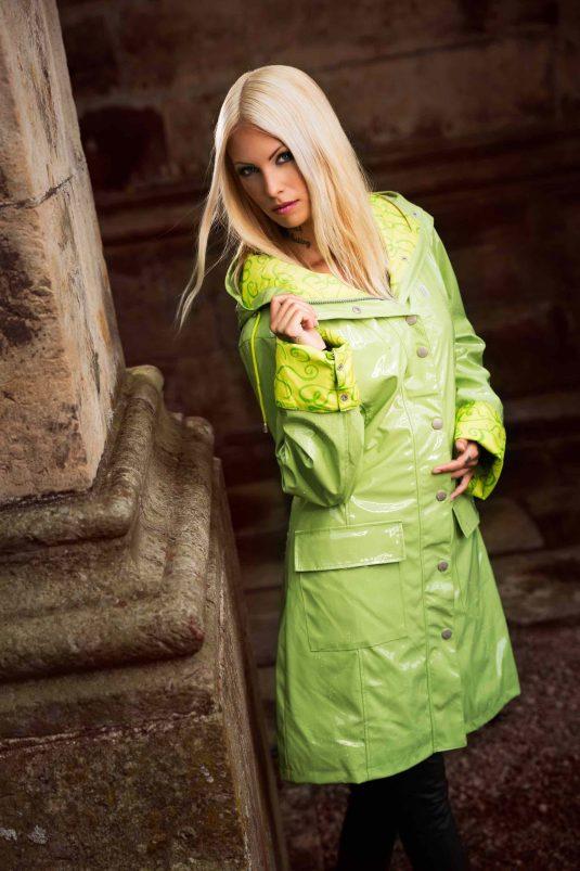 Osregn Womens Raincoat - Sunny Lime