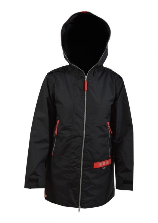 Blaest Full Zip Short Raincoat - Black