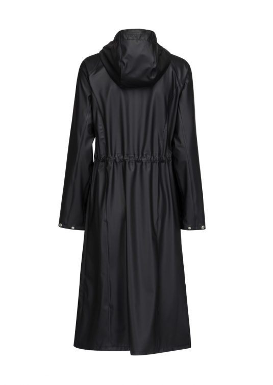 Ilse Jacobsen Light True Rain Long Raincoat Rain95 Black 2