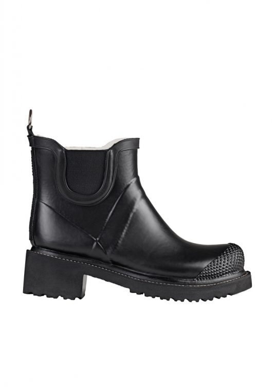 Ilse Jacobsen Short Heeled Rubber Boot Rub47 Black 1