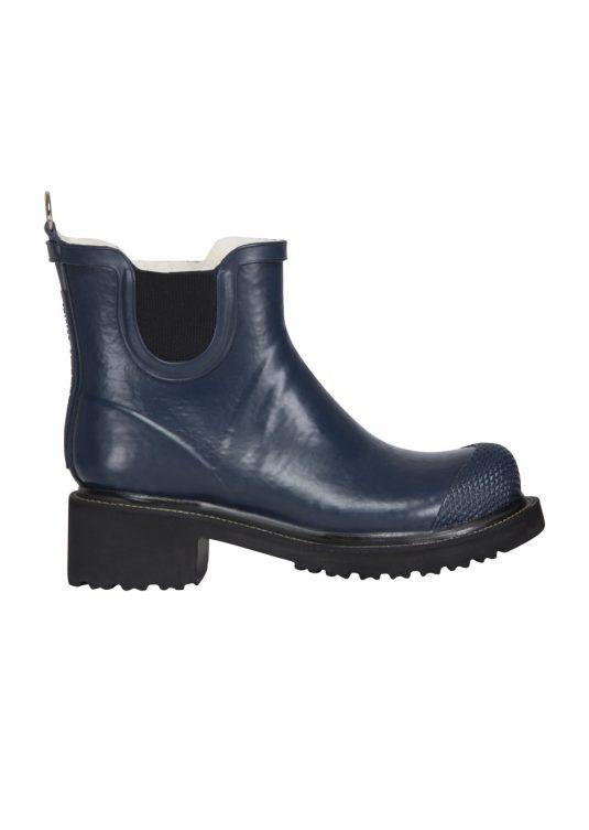 Ilse Jacobsen Short Heeled Rubber Boot Rub47 Black 1
