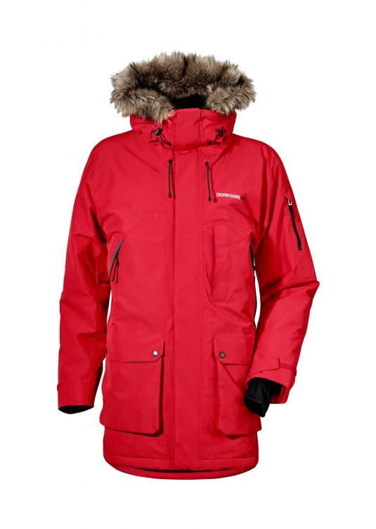 Didrikdons Marcel Mens Parka Coat Red