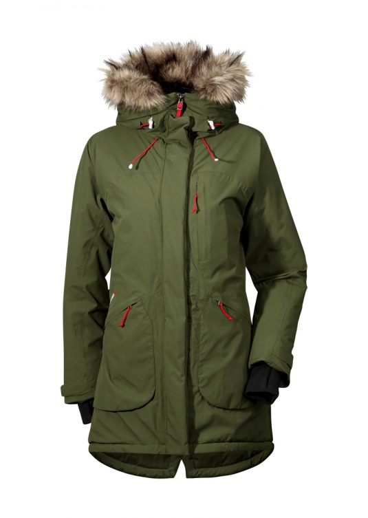 Didriksons Nancy Womens Waterproof Winter Parka Peat Green