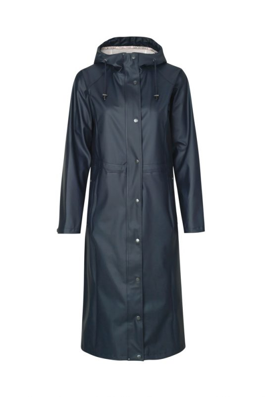 Ilse Jacobsen Long Light true Rain Raincoat Indigo