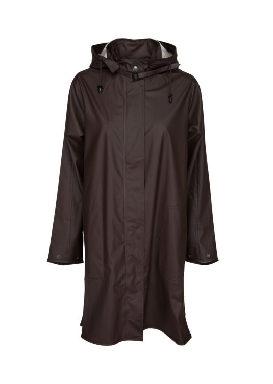 Ilse Jacobsen Rain71 Light True Rain Raincoat Ganache
