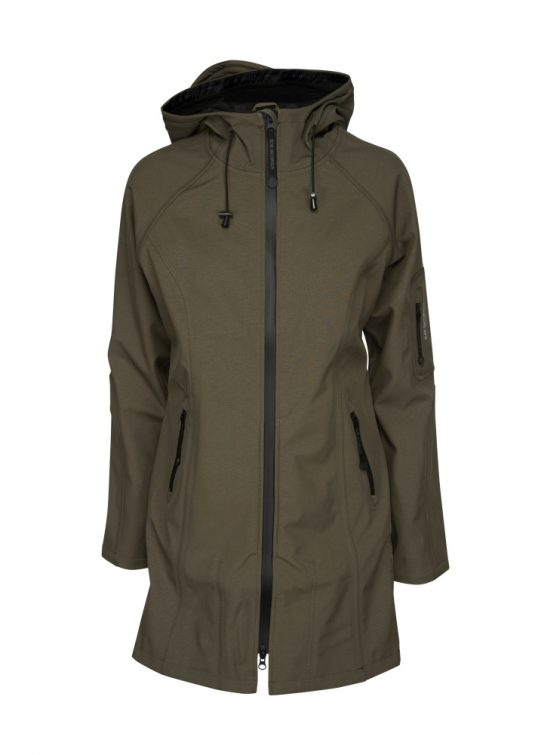Ilse Jacobsen Rain37 Soft Shell Raincoat Army Green