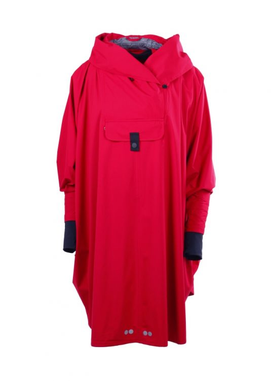 Blaest Bergen Poncho Red