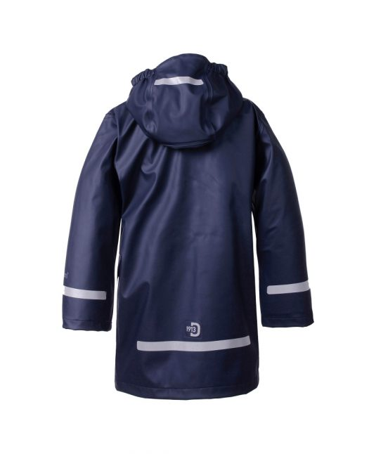 Didriksons Makrill Childrens Raincoat Navy