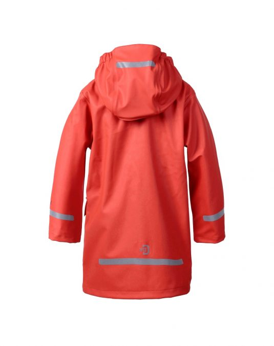 Didriksons Makrill Childrens Raincoat Paprika