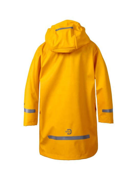Didriksons Makrill Childrens Raincoat Yellow