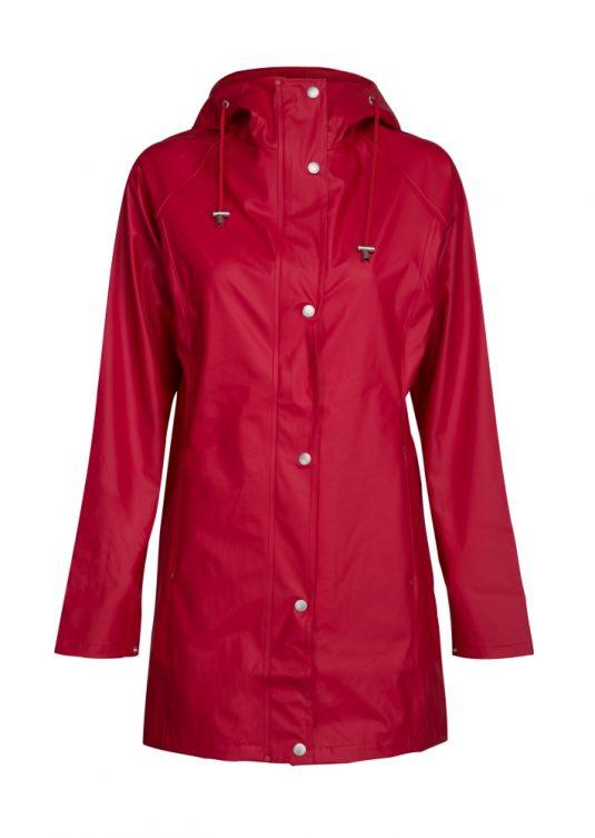 Ilse Jacobsen Light True Rain Raincoat Deep Red