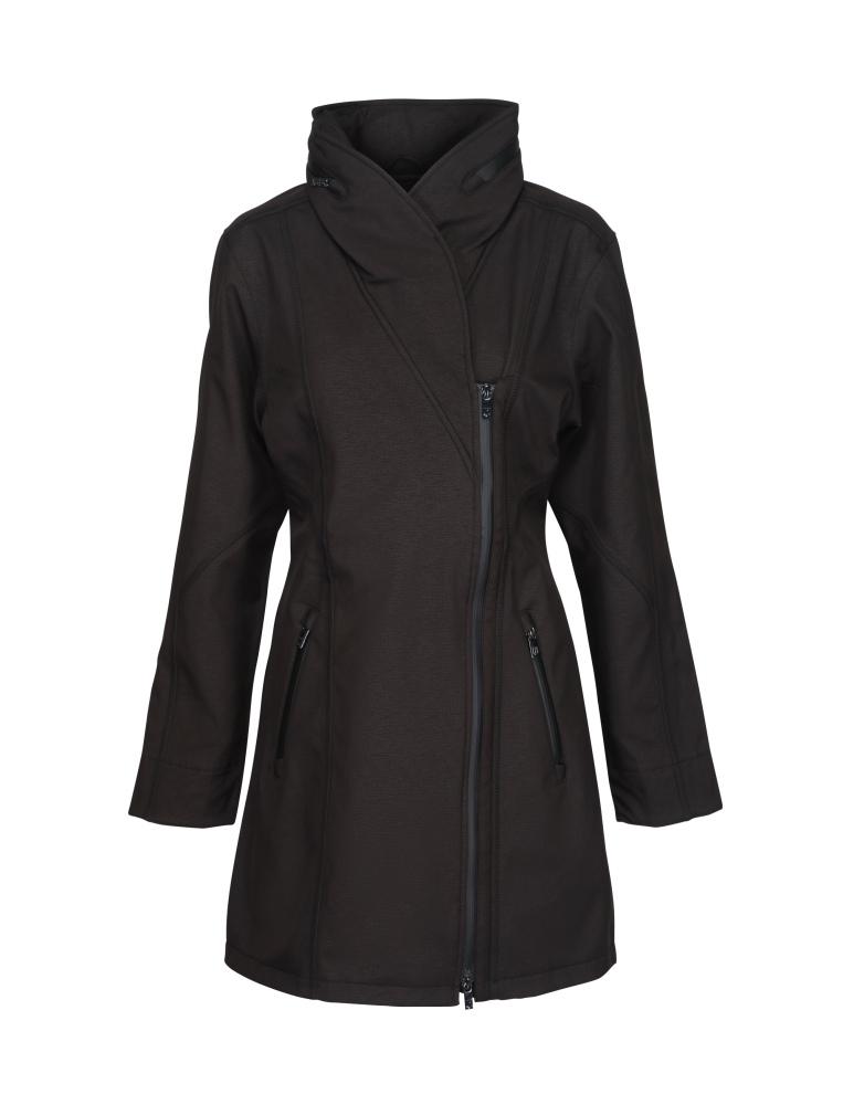 10ba998bdfe6 Ilse Jacobsen Rain100 Asymmetric Soft Shell Raincoat
