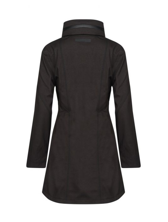 Ilse Jacobsen Rain100 Soft Shell Raincoat Black