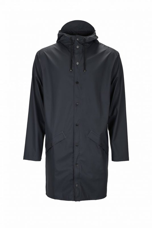 Rains Long Jacket Navy