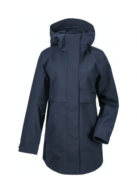 Didriksons Edith Waterproof Parka Raincoat Dark Night Blue 1