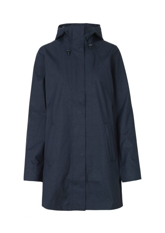 Ilse Jacobsen Rain97 Dark Indigo Soft Shell Raincoat 1