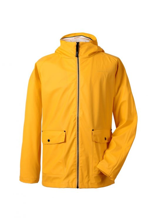 Didriksons Dylan Mens Raincoat Yellow 1