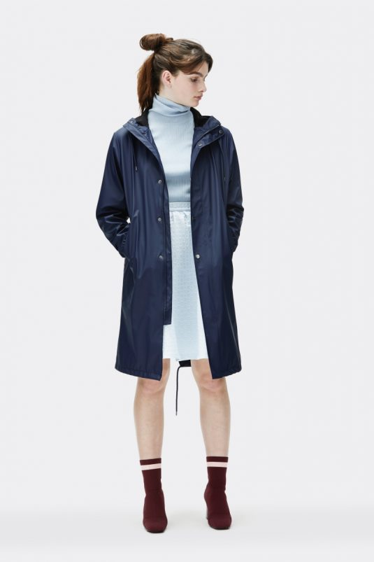 Rains Coat Blue Model