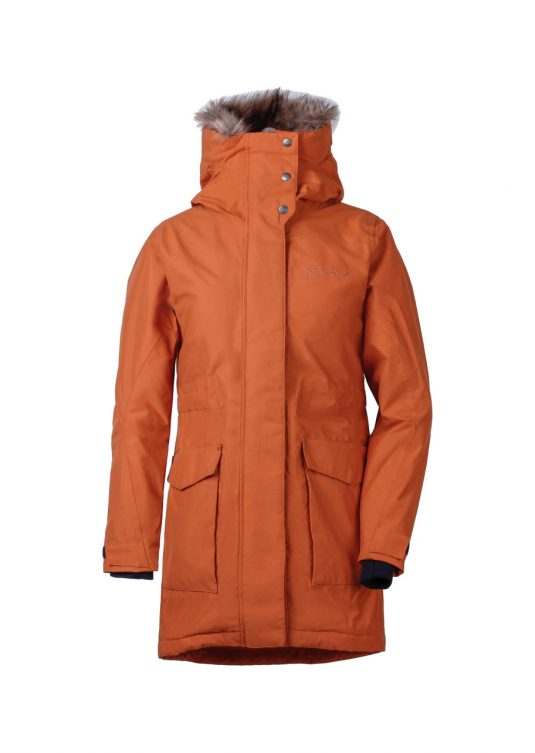 Didriksons Meja Waterproof Parka Leather Brown