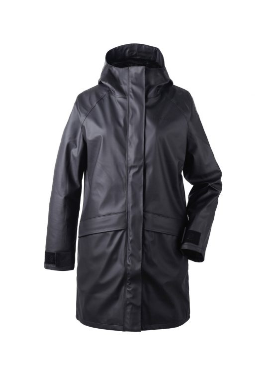Didriksons Ulla Womens Raincoat Black