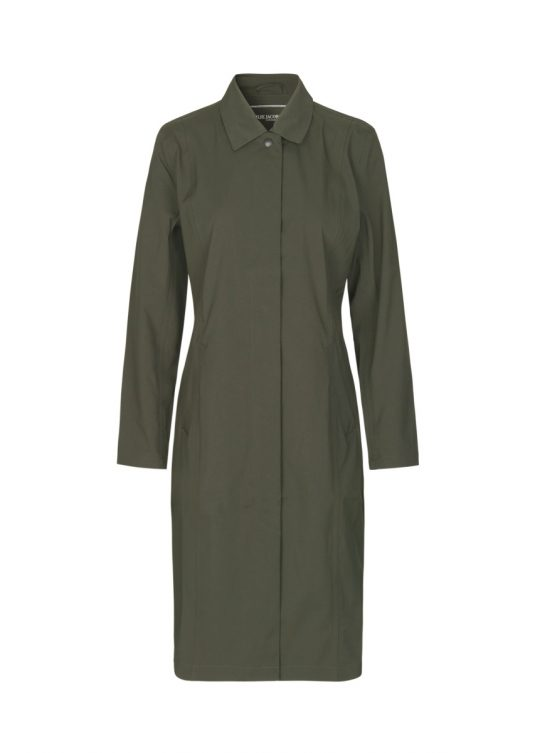 Ilse Jacobsen Raincoat Rain98 Dark Olive 1