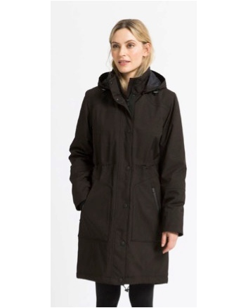 Ilse Jacobsen Warm Winter Rain Soft Shell Park Raincoat Rain104 Black