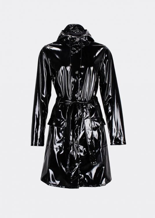 Rains Curve Jacket Glossy Black 1